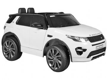 Land Rover Discovery Licensed 12v Electric Ride on Car White with Parental Control